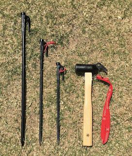 左から50cm、40cm、30cn、ペグハンマー PRO.S