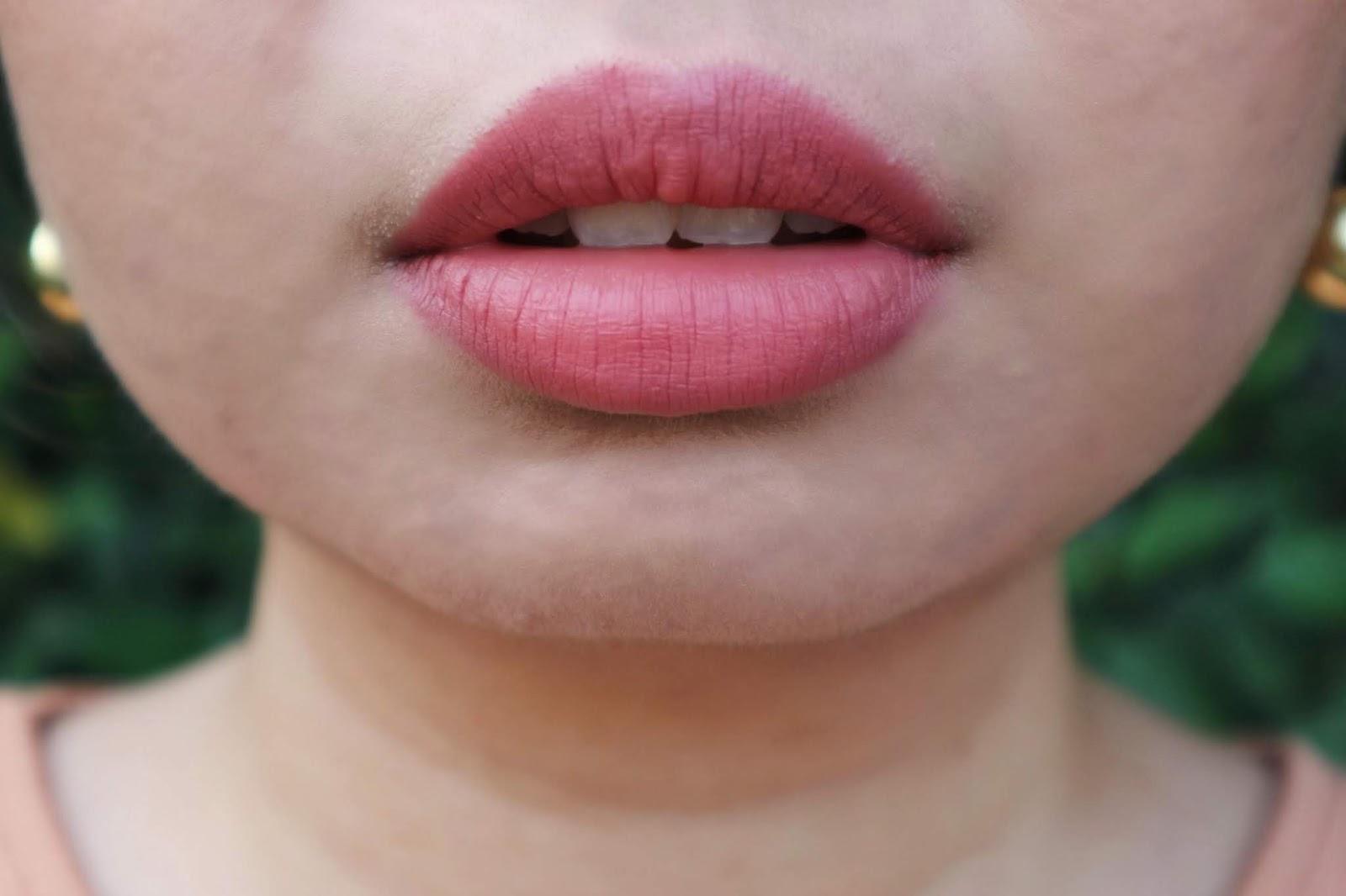 Kris Matte Mattic Lipstick in Life (Pink) Lip Swatch