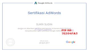 sertifikat google adwords