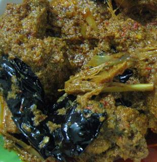 Resep Rendang Ayam Daun Puding