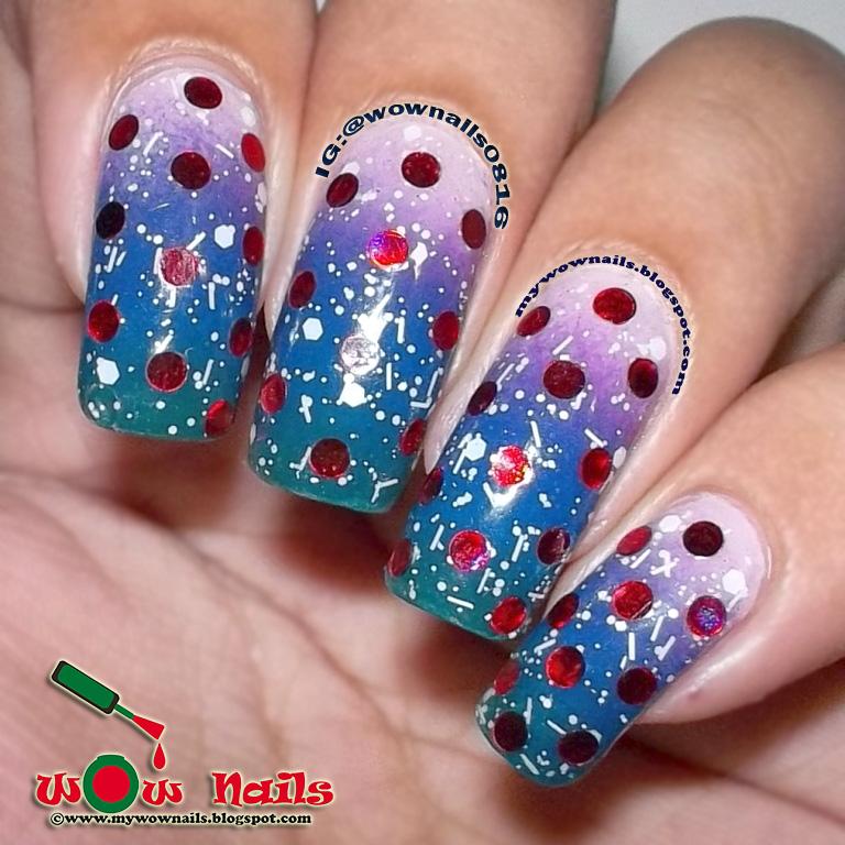WoW Nails: Sparkly Christmas Nail Art