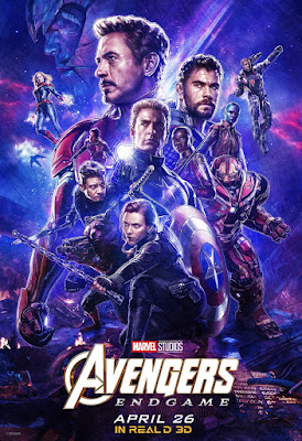 Avengers Endgame RealD 3D Theatrical One Sheet Movie Poster
