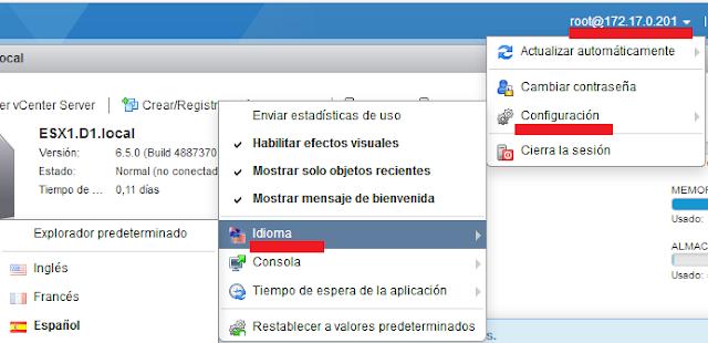 VMware: Cambiar idioma