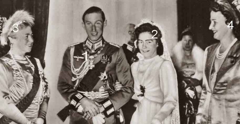 Mariage de  Franz Joseph de Prusse et d'Henriette von Schoenaich-Carolath- Hohenzollern
