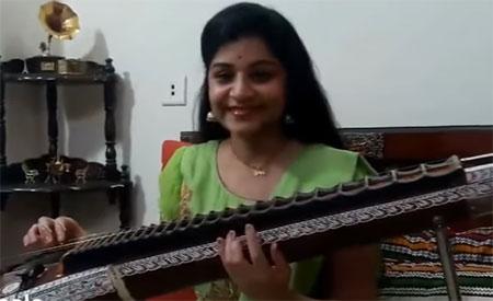 Inji Iduppazhagi Veena Version