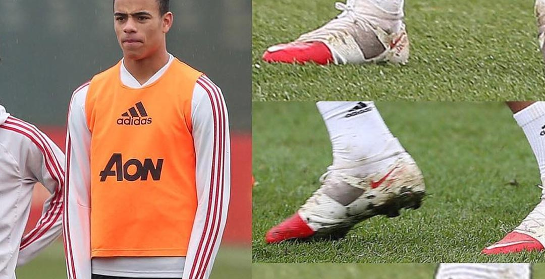 c5b8b7f58 Man United Youngster Greenwood Shows Off Custom Nike Mercurial GS ...