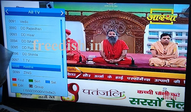 Aastha TV Channel added again on DD Freedish - 15th April