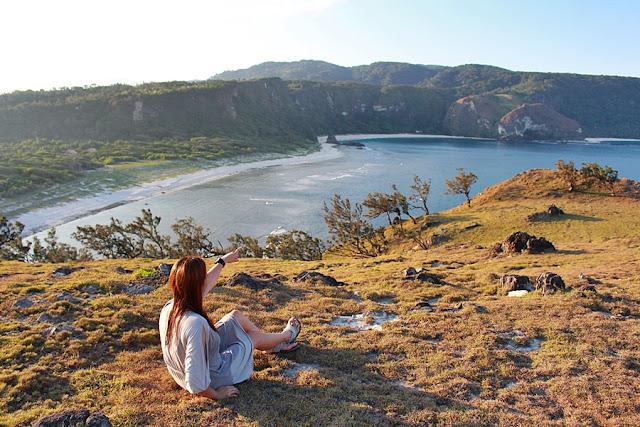 Monette Santillan surveys the scenery in Calayan Island