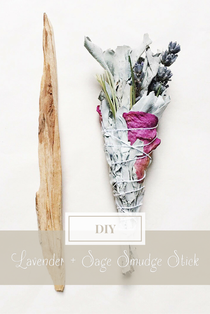DIY Lavender and Sage Smudge Stick for ritual cleansing