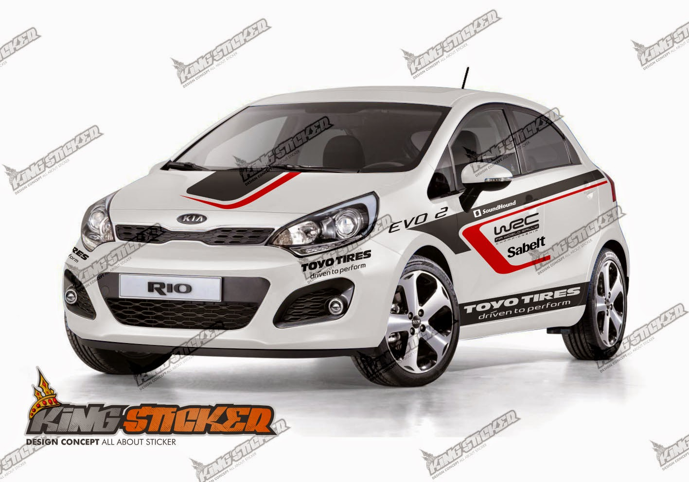 Cutting Sticker Kia Rio King Sticker Bali