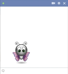 Facebook Butterfly Emoticon