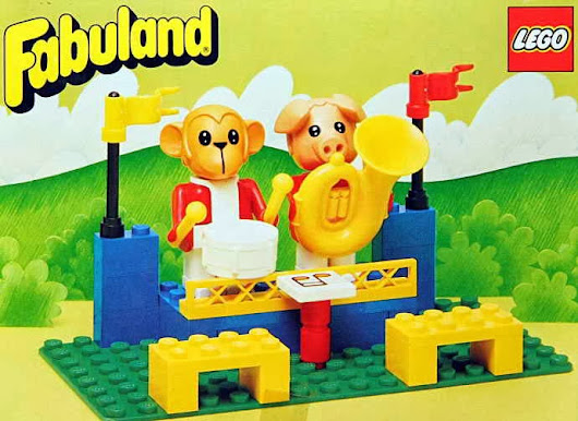 LEGO 3631 The Fabuland Big Band Peter Pig and Gabriel Gorilla | Fabubrick