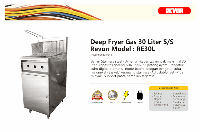 Deep Fryer Gas Murah