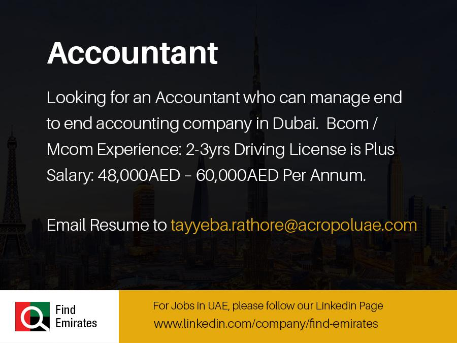Accountant Jobs in Dubai-UAE | Gulf Job Hunt (UAE, Saudi Arabia ...