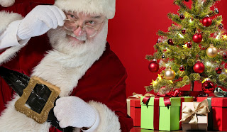 santa claus, christmas, christmas tree,merry, christmas, December, , decorate, decoration, gifts, xmas, presents,  surprise,look