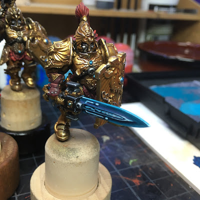 Adeptus Custodes WIP Sword close up