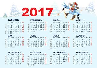 2017カレンダー無料テンプレート117
