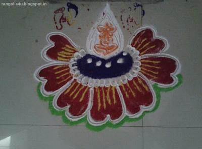 Flower Rangolis