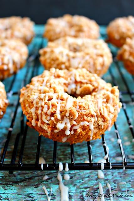 Pumpkin coffee cake donut recipe.