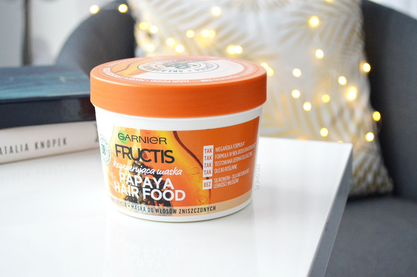 hit do włosów garnier fructis papaya hair food