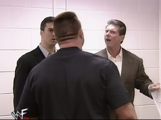 WWE / WWF Rebellion 1999 - British Bulldog confronts Vince and Shane McMahon