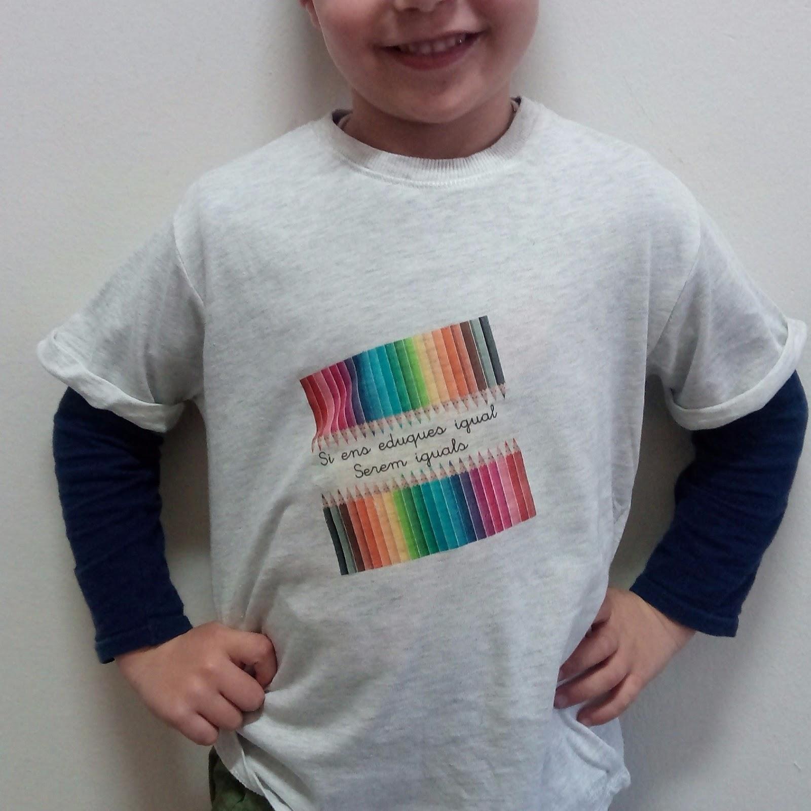 Camiseta niño estampada paper transfer