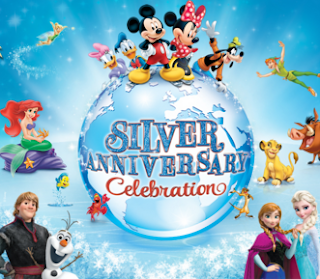 Disney in ice silver anniversary