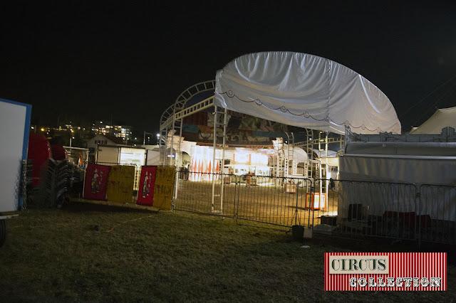 il ne reste plus grand chose de l'entrée du cirque