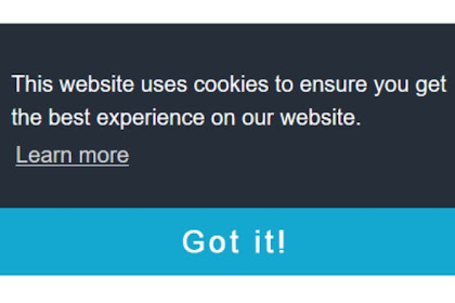 How to add a cookie consent notification to Blogger? Cookie Consent Code Generator and Cookie Policy Page Generator