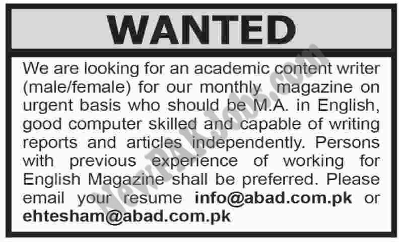 magazine-content-article-writer-jobs