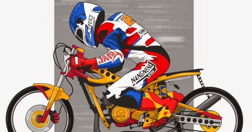 43+ Ide Top Gambar Kartun Motor Racing