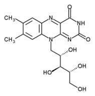 Χημική δομή της βιταμίνης Β2