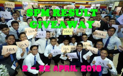 SPM Result Giveaway By Abam Kie, Peserta, Pemenang, Kuiz, Teka, Aggregat SPM,