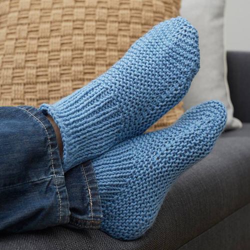 Time-Off Slipper Socks - Free Pattern