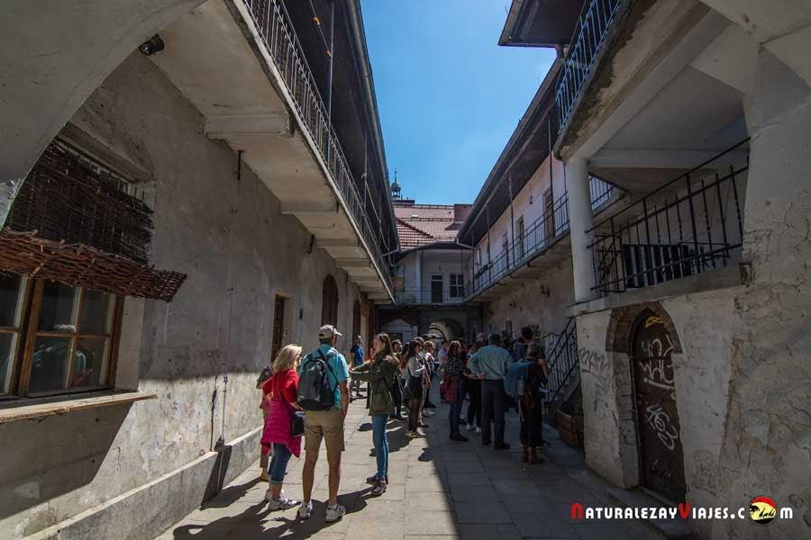 Escaleras de la Lista de Schindler en Kazimierz, Cracovia