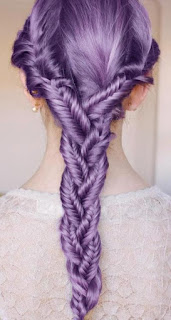 Purple braided hairstyle