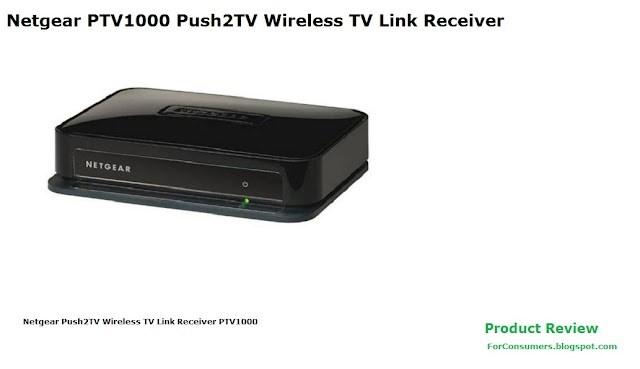 Netgear PTV1000 Push2TV Wireless TV Link Receiver features and specs