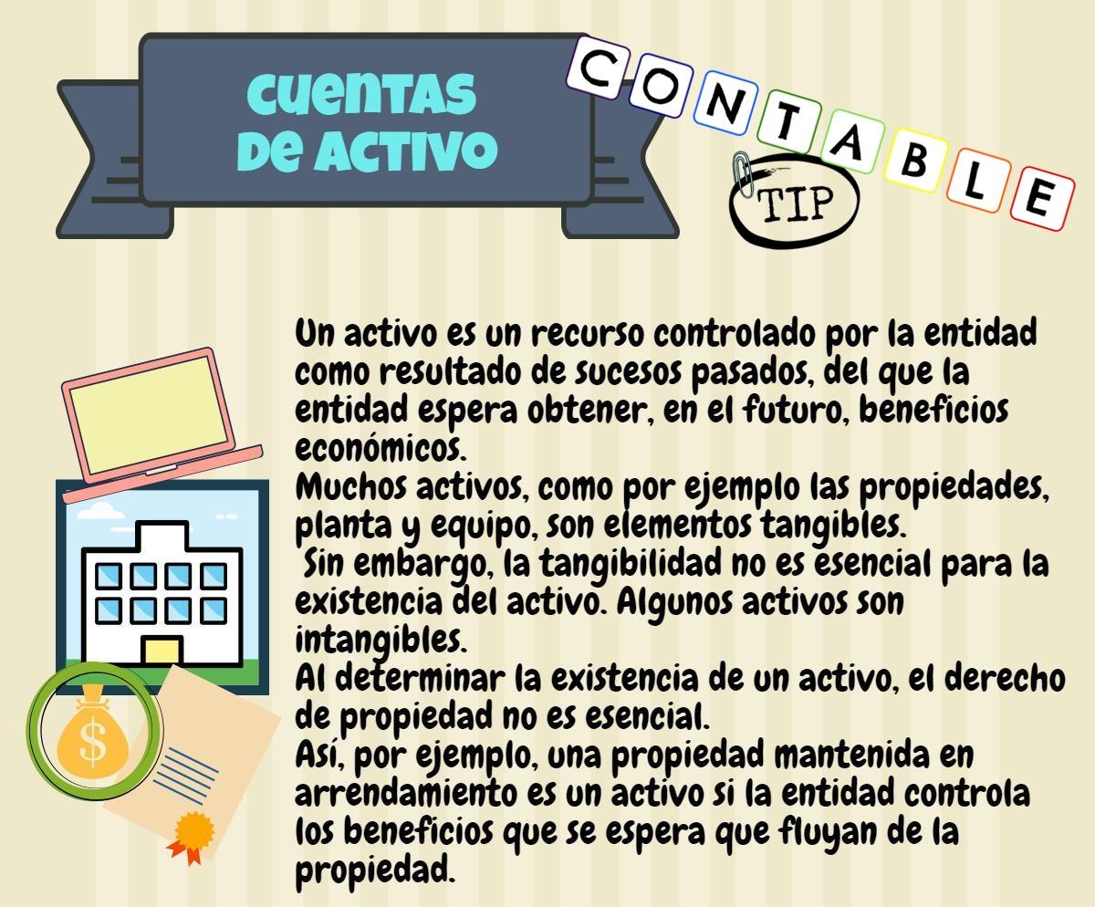 Contable Tip: CUENTAS DE ACTIVOS - CONCEPTO, NATURALEZA DE LAS ...