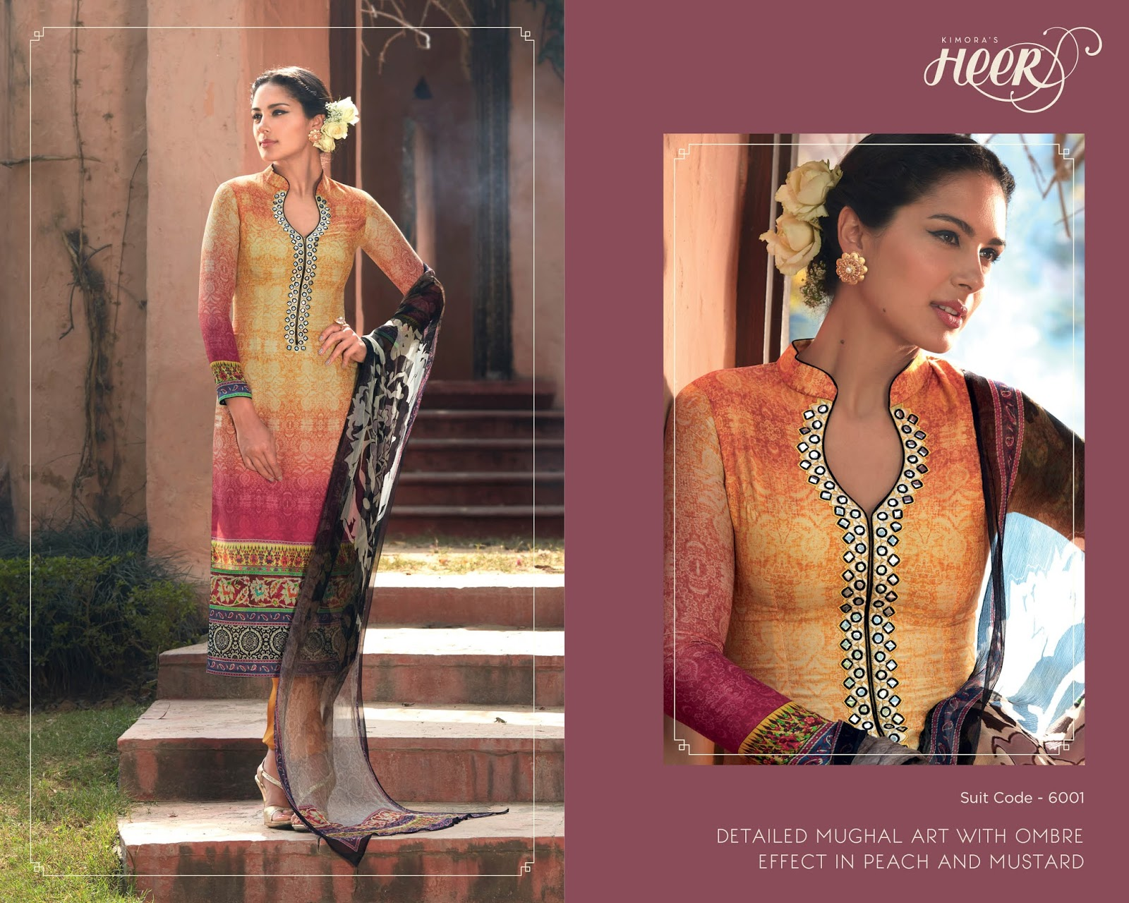 Heer Vol 11-heavy Chiffon Digital Print Beautiful Color Salwar Suit