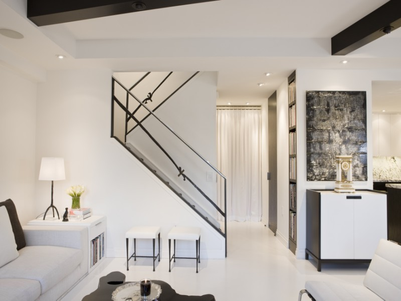Photo Of Modern Designed Staircases Interiors Small Apartment Design In Washington Dc