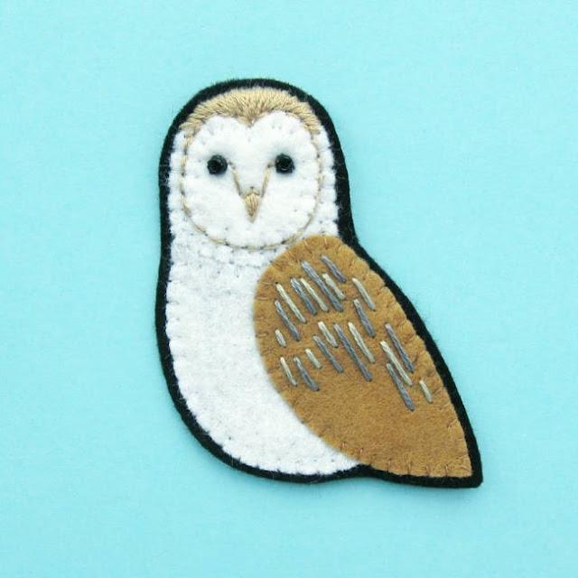 Felt Barn Owl Brooch Tutorial