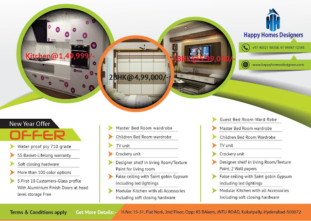 Happy Homes Designers New Year Offer 2017