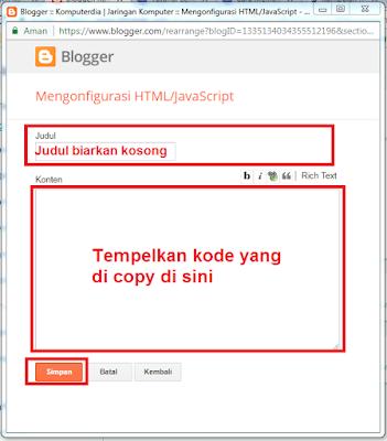 Cara Membuat dan Memasang Kode Anti Inspect Element DI Blogger