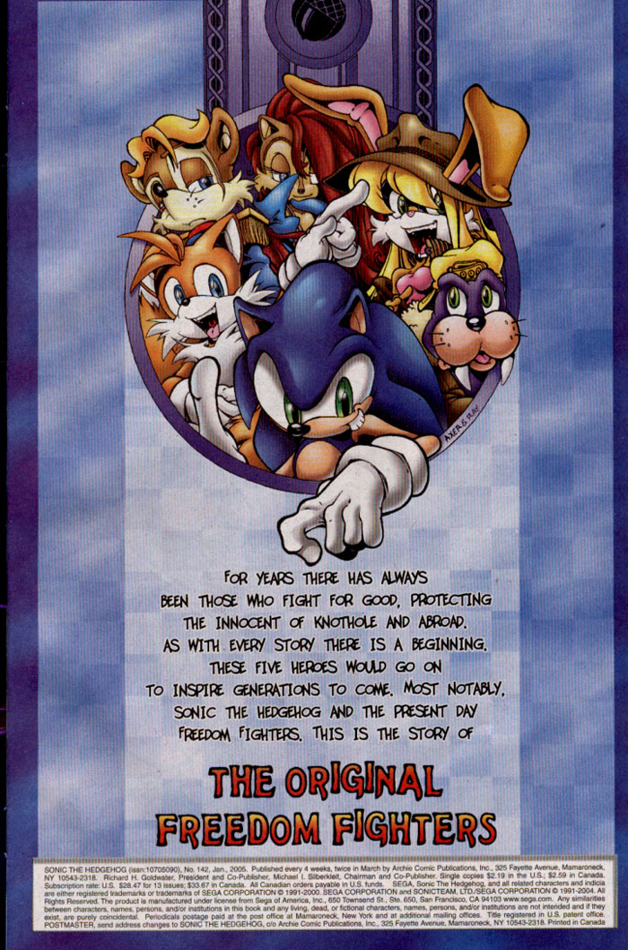 Read online Sonic The Hedgehog comic -  Issue #142 - 2
