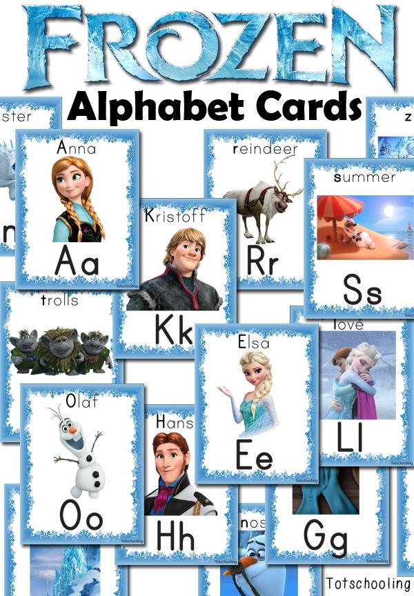 Free FROZEN Alphabet Cards Totschooling - Toddler, Preschool