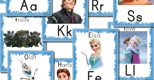 Free FROZEN Alphabet Cards  Totschooling  Toddler and