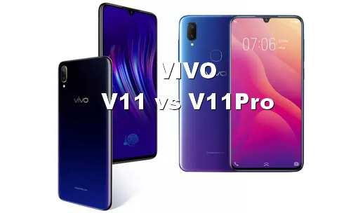 Perbandingan Vivo V11 dan V11Pro dari Harga dan Spesifikasinya