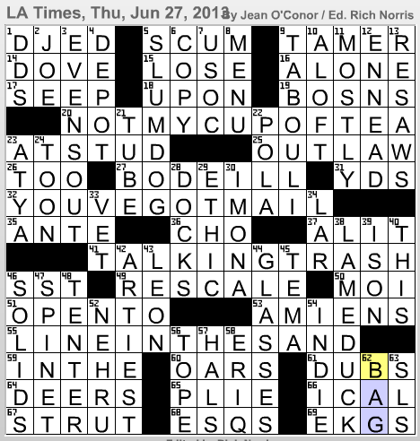 Latimes crossword corner jean oconor hugs malvernweather Choice Image
