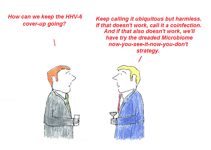 cartoon, cover-up, hhv-6, cdc, nih, fauci, gallo, aids, cfs