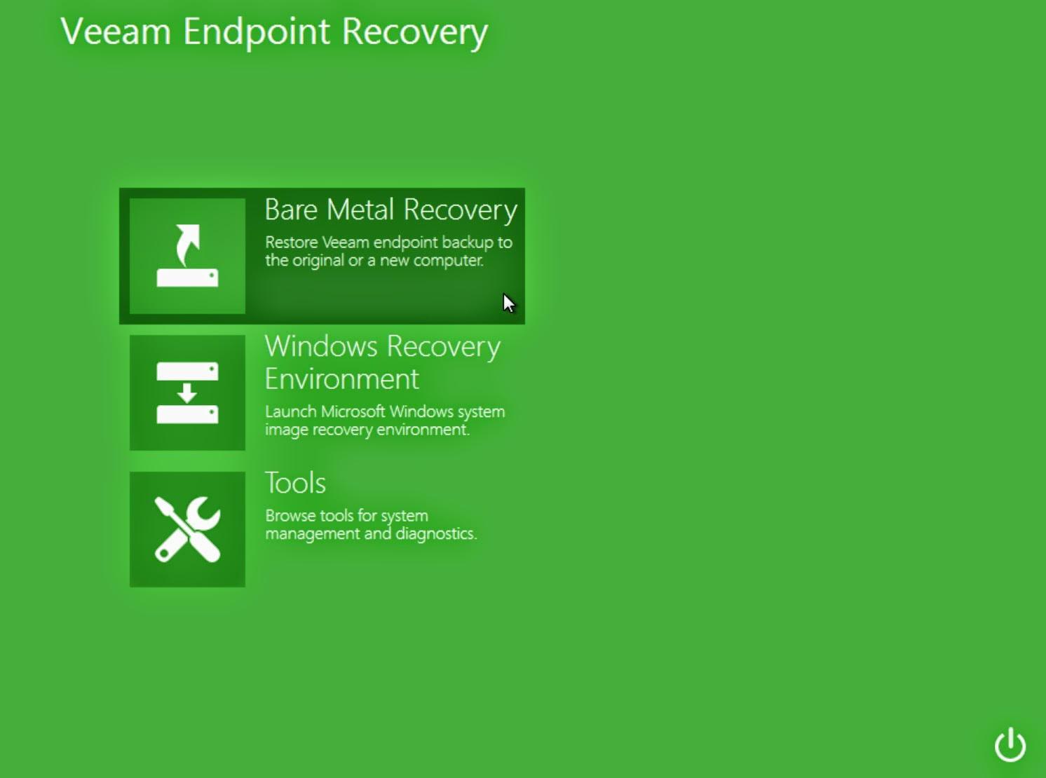 Veeam Endpint Backup Gratuito configure restore